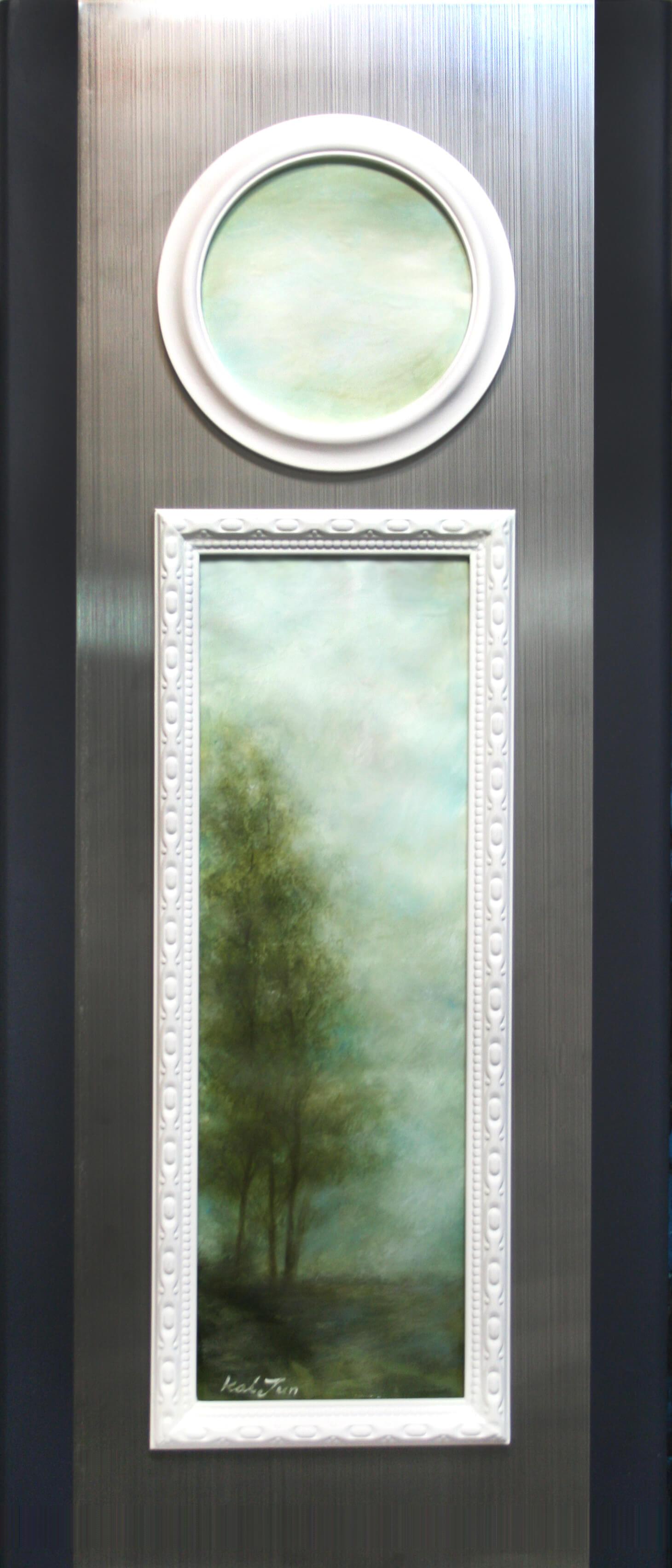 희망의 창-우정-70cm X 30cm-Oil on Paper & Wood