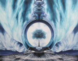 프랙탈 몽환 시리즈- 몰포나비의 꿈  116.7cm X 90