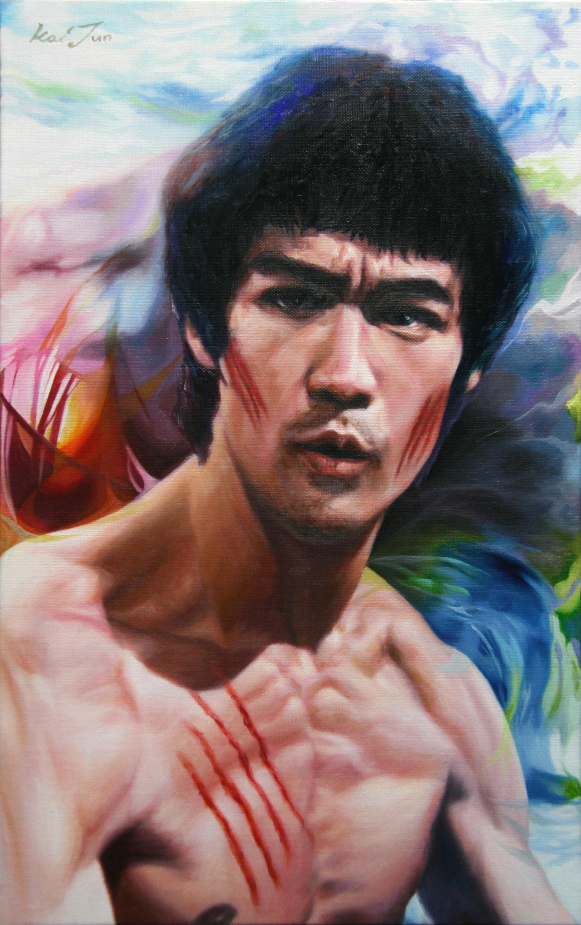 이소룡53cm X 33.3cm Oil on canvas 2010