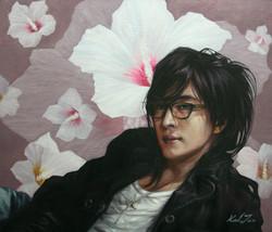 한국의 아름다움을 찾는(배용준)10호F(53cm X 45.5cm).유화.