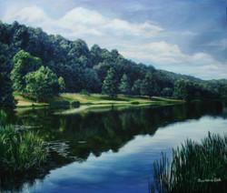 북한강 72.7cmX60.6cm Oil on Canvas-2008