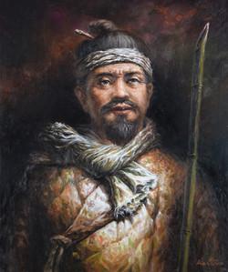 Kai Jun.고부 봉기 동학 농민. 유화. 72.7cm X 60