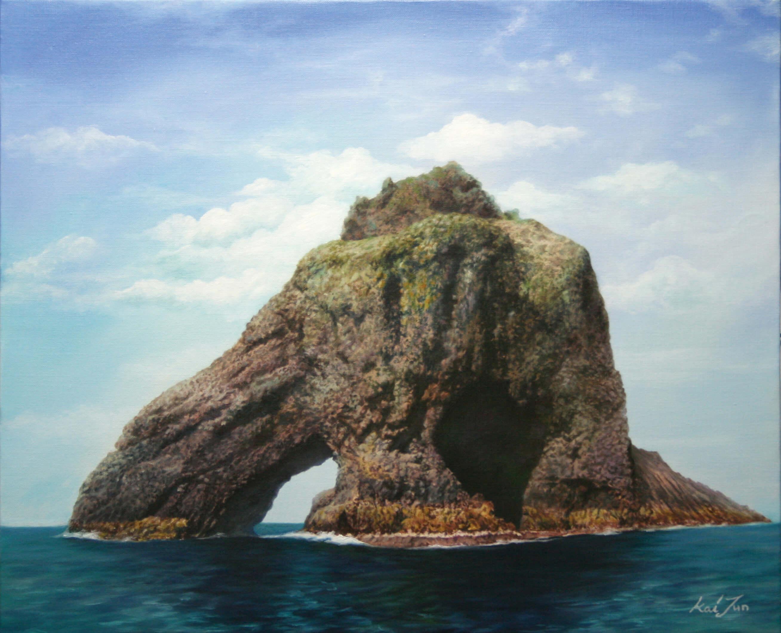 삼형제굴바위. 72.7cm X 60