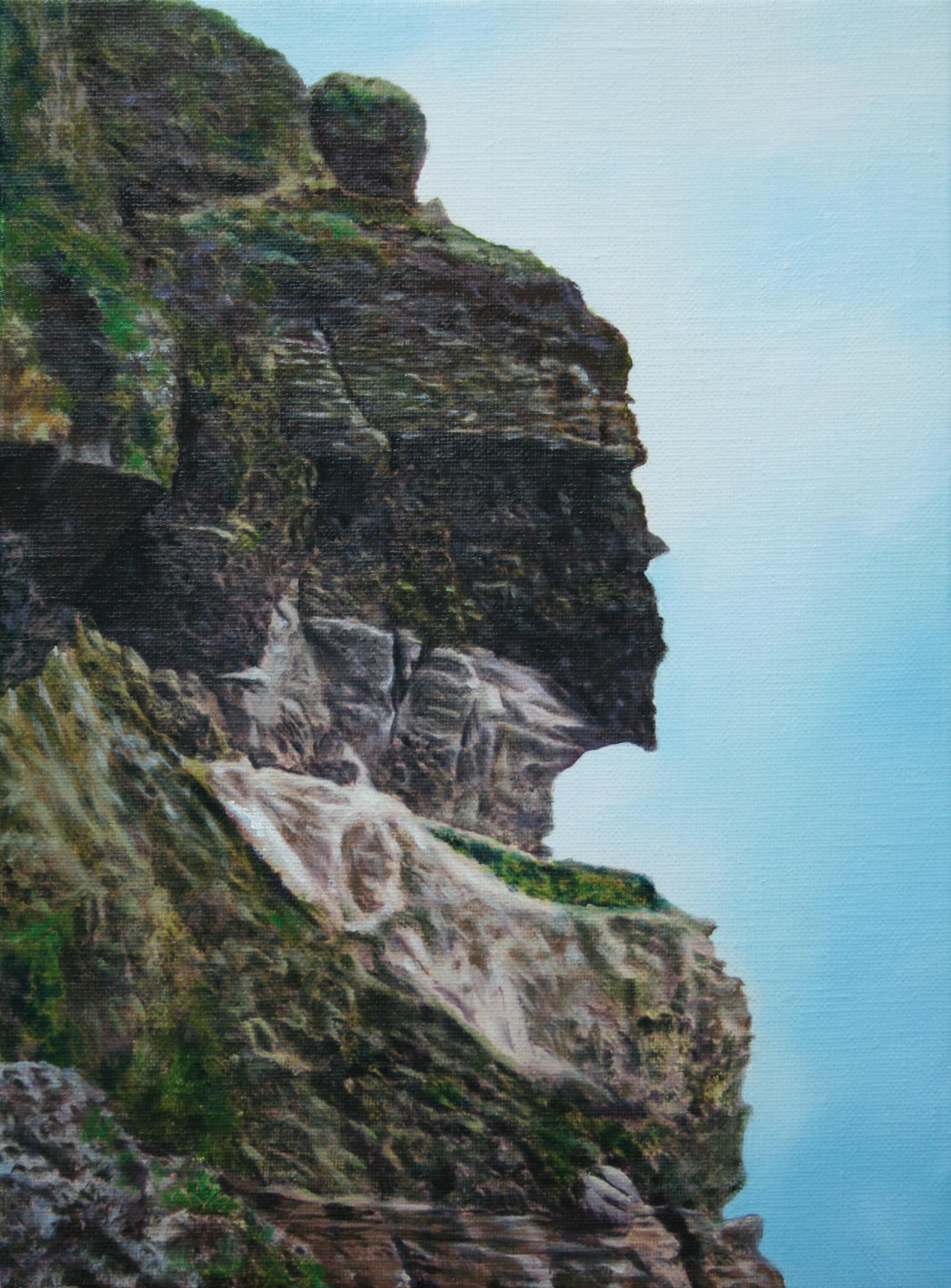 얼굴바위.24.3cm X 33.3cm Oil on Canvas-2008.
