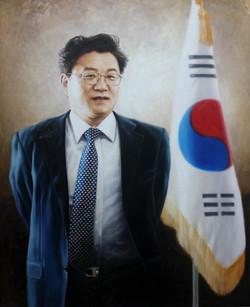김준규 전 검찰총장님 -53cm X 65