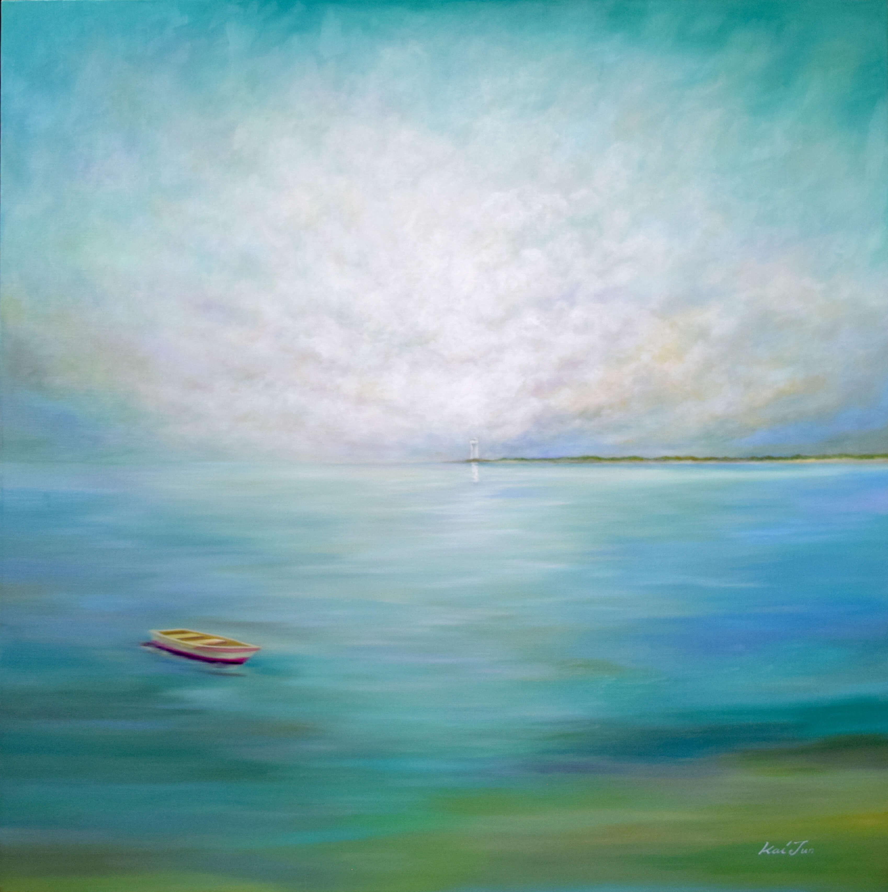 서양(曙洋)을 생각하며135cm X 135cm-Oil on Canvas-
