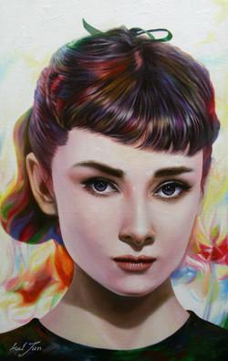 Audrey Hepburn.53cm X 33