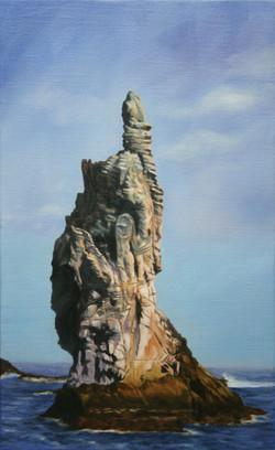 촛대바위.27.3cm X 45.5cm Oil on Canvas-2008.