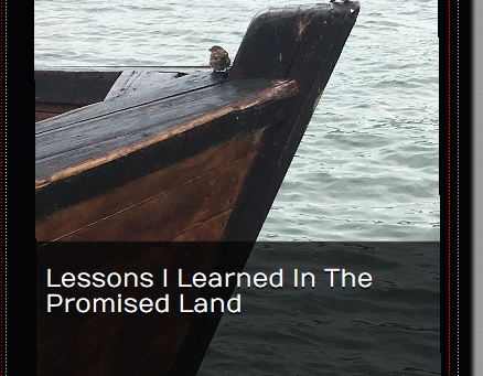 Lessons I Learned in the Promised Land