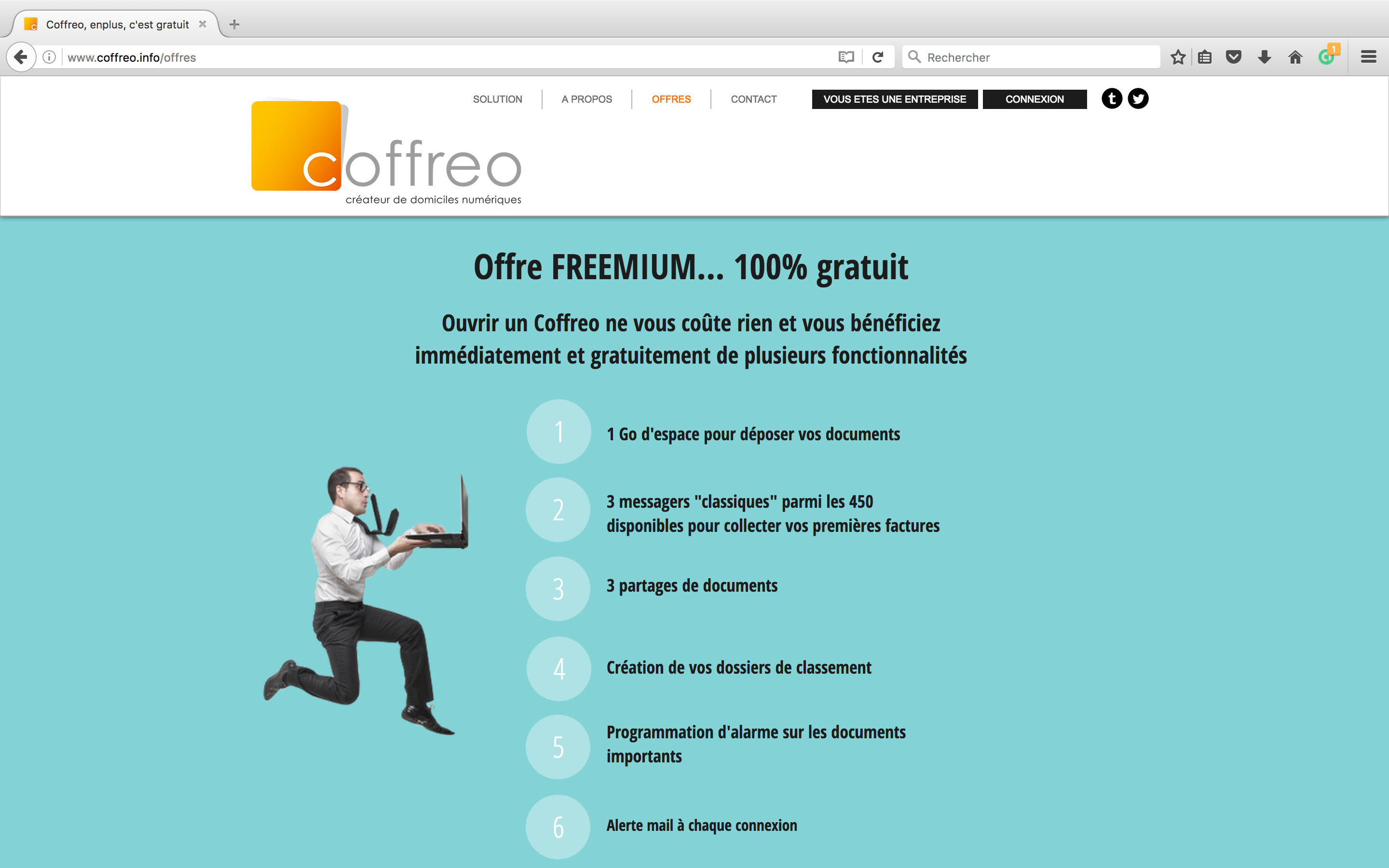 Site internet coffreo.info