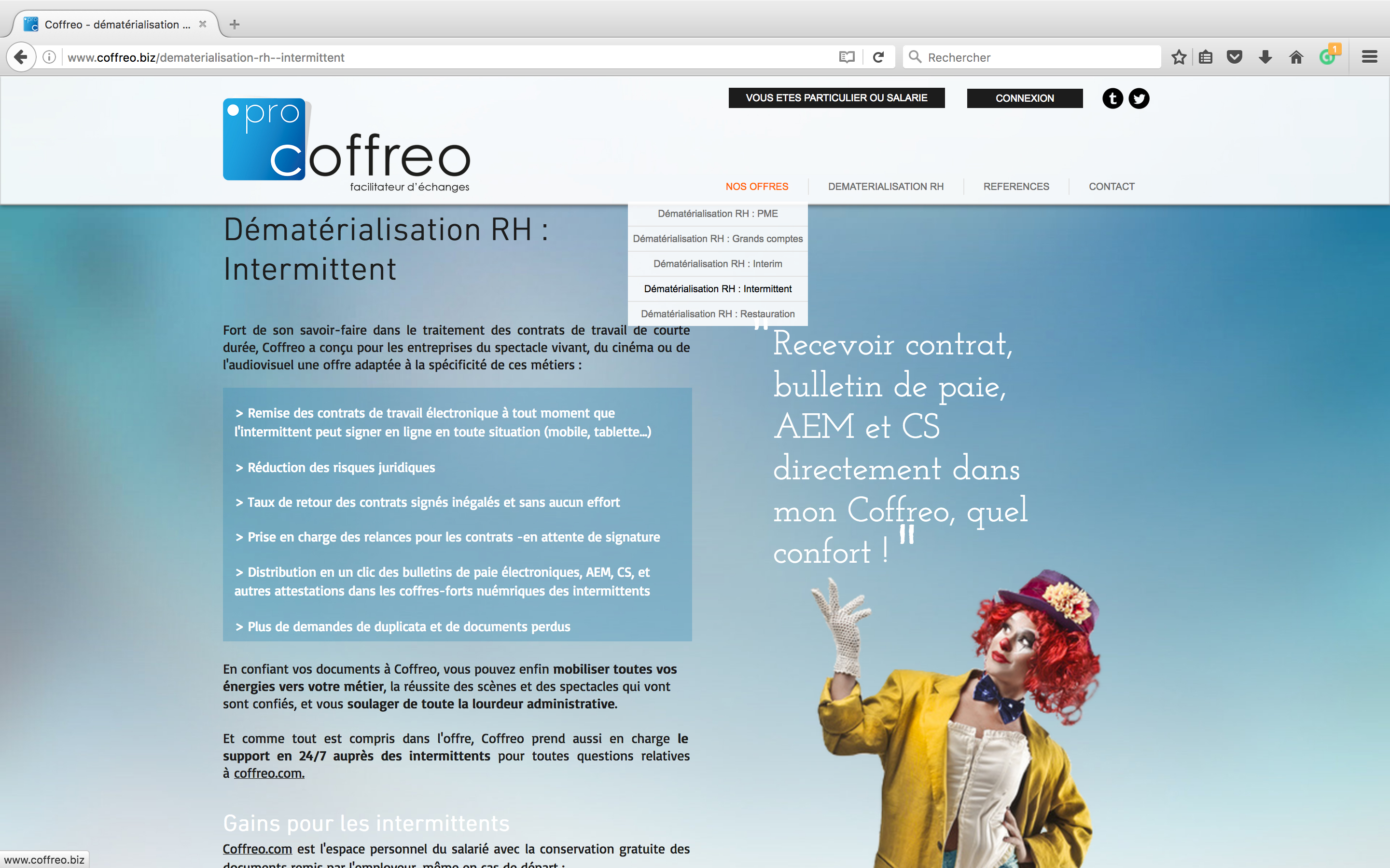 Site internet coffreo.biz