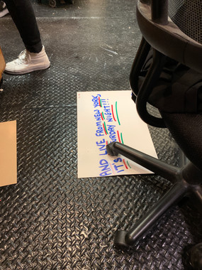 cue card floor