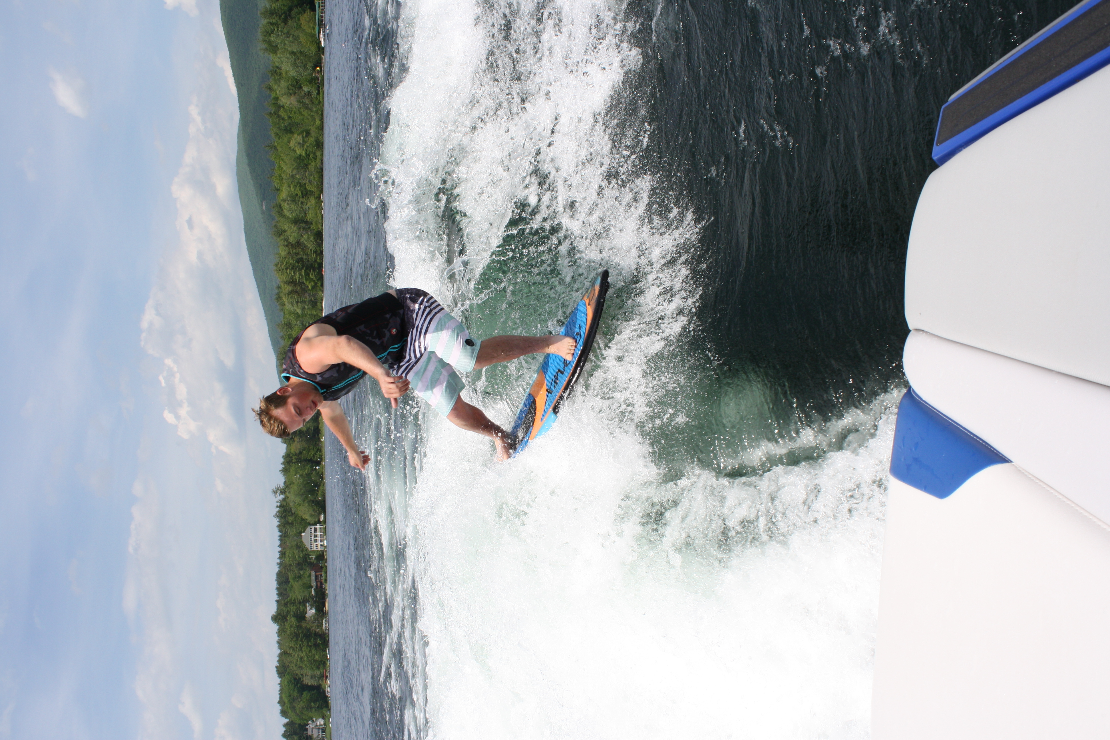 Wakesurfing on Winnipesaukee