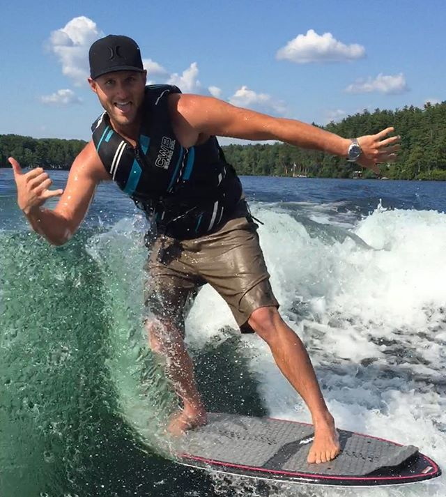 Wakesurfing in the Lakes Region