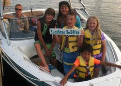 Kids having fun tubing in Wolfeboro