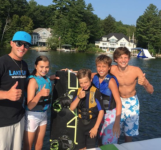 Wakeboarding Family Winnipesaukee