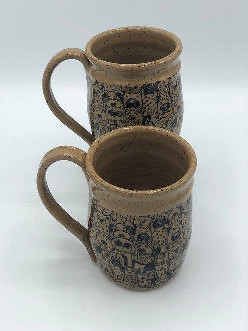 Set of 2 Groovy Dogs Mugs