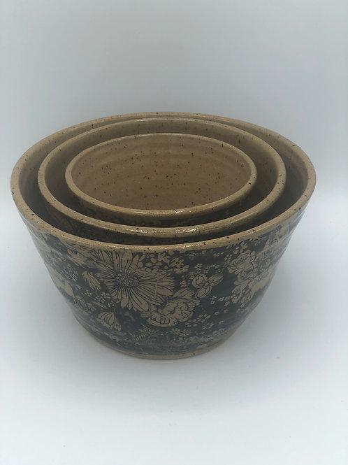 Chrysanthemum Series Tall Nesting Bowls