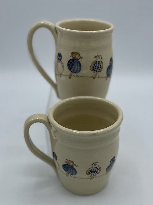 Set of 2 Birds On a Wire Mugs