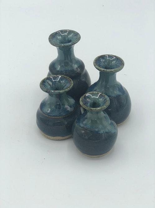 Blue Skies Tiny Vases Set