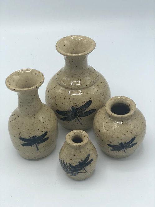 Dragonfly Mini Bud Vase Set