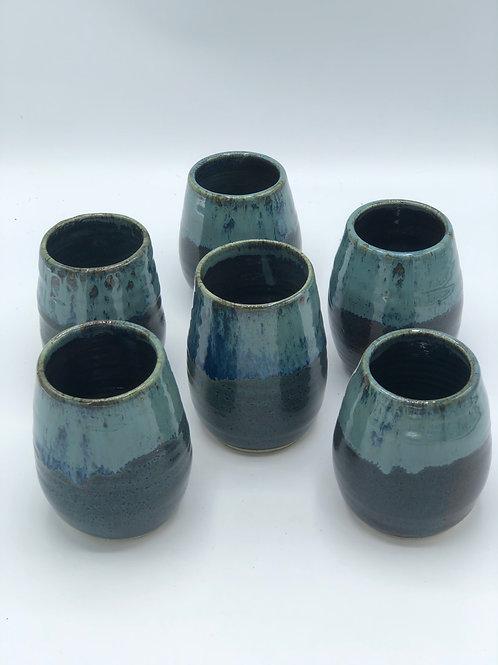 Set of 6 Stemless Wine/Tea Goblets