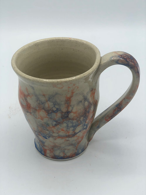 Orange and Blue Bubble Glazed Mug