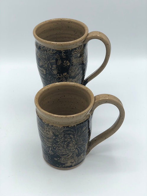 Set of 2 Chrysanthemum Mugs