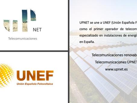 UPNET SE UNE A UNEF (Unión Española Fotovoltaica)
