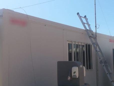 Instalación WIMAX en huerto solar en fase de construcción en Cadima, Almería.