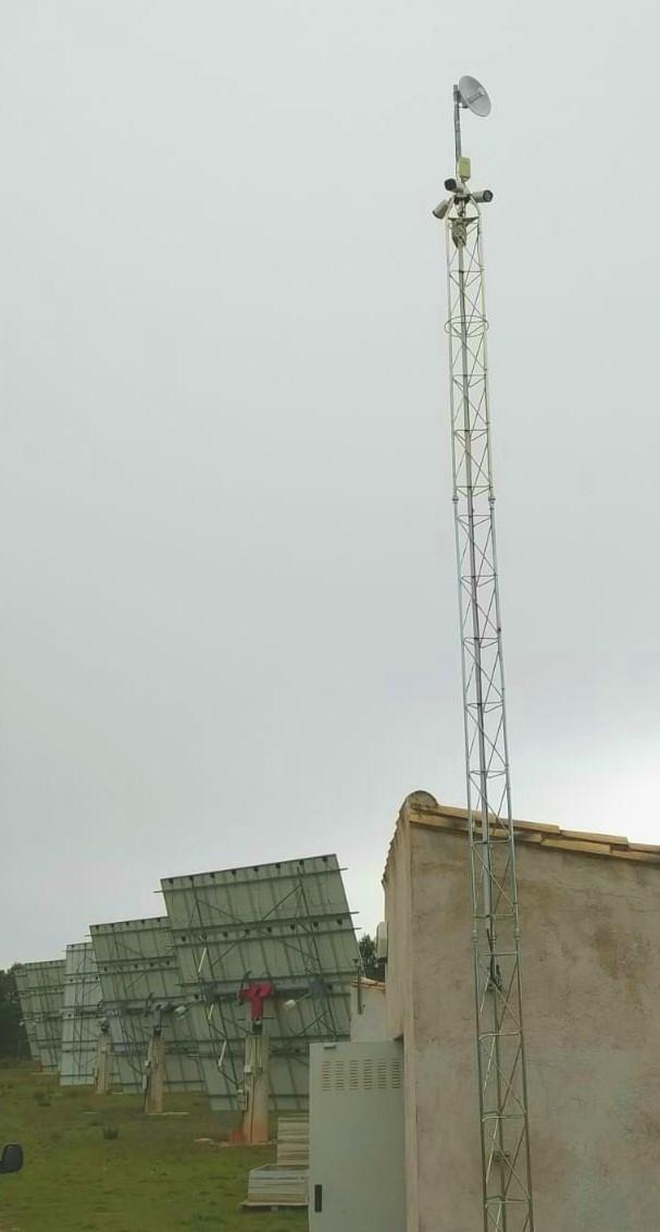 Instalación de radio enlace dedicado para una planta fotovoltaica en Tarragona, España.