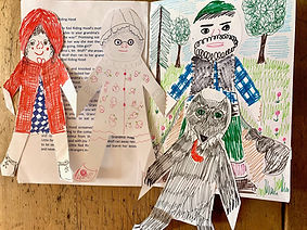 red riding hood paper dolls