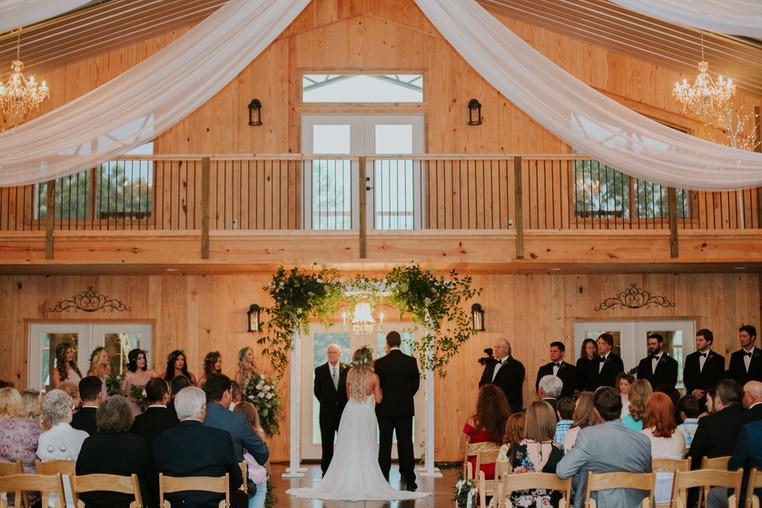 Ceremony at The Farm in Akron, AL