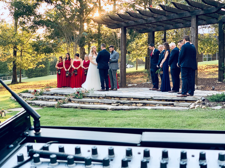 Outside Ceremony view at the Barn at Shady Lane in Bessemer, AL