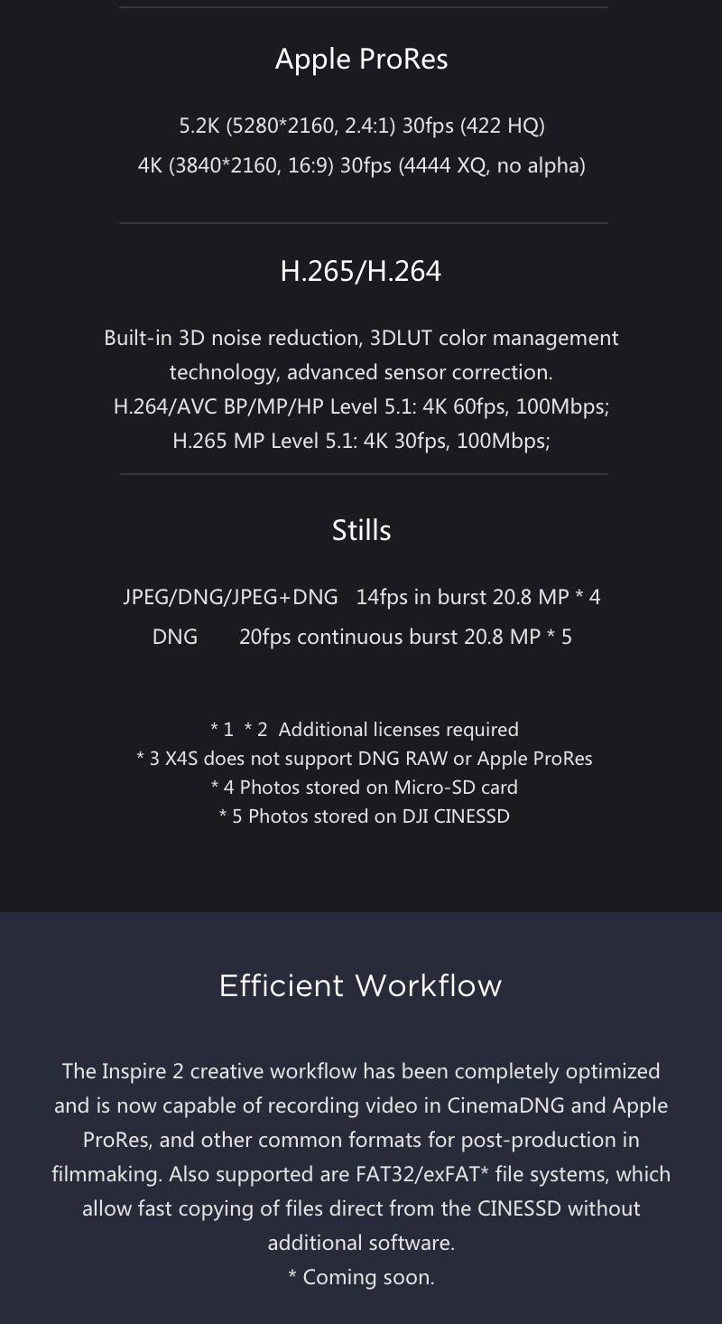 X5S Cameras Specs