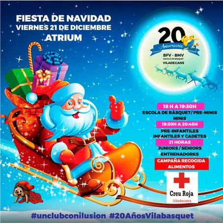 ESTE VIERNES 21 FIESTA DE NAVIDAD