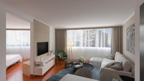 Grand Suite (sala y vista habitación)