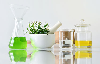 Natural organic botany and scientific gl
