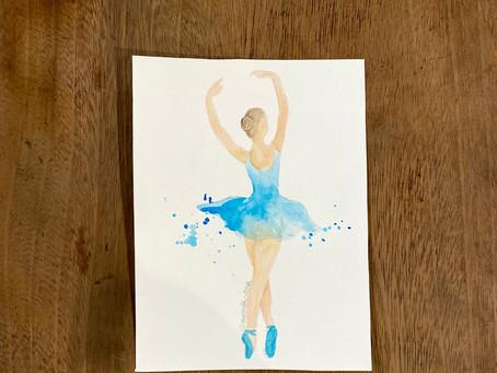 Aquarela no Ballet.