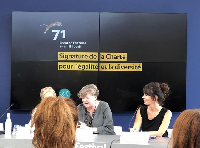 Isabelle Chassot, Swiss Federal Office of Culture Director, and Pauline Gygax (l.), Producer, Pledge Advisor & Member of the SWAN Advisory Council