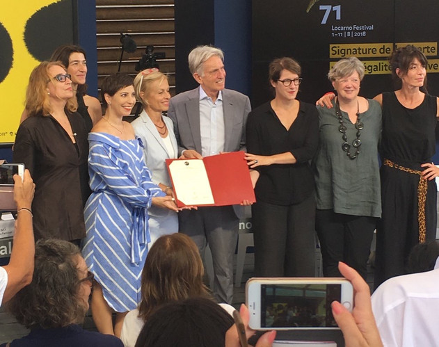 History in the making! Locarno Festival has signed the pledge