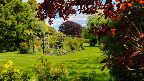 A large formal garden