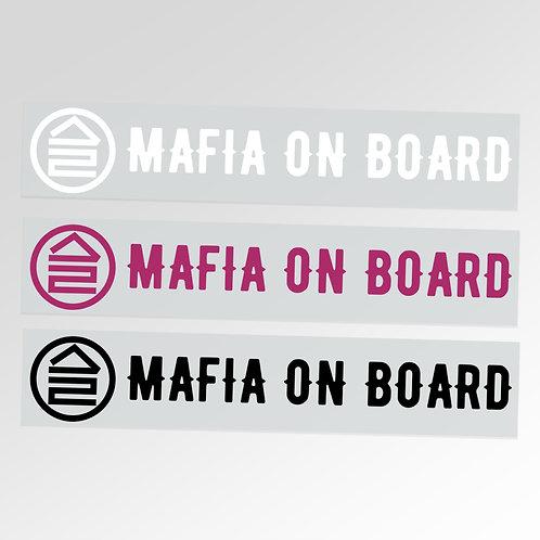 Автонаклейка «MAFIA ON BOARD» 30x7 см