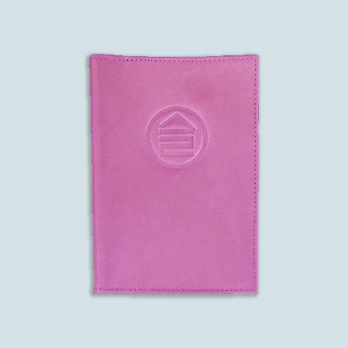 Обложка для паспорта розовая