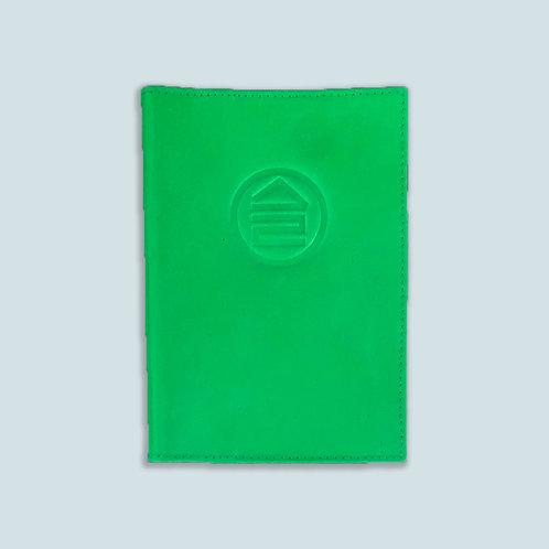 Обложка для паспорта зелёная
