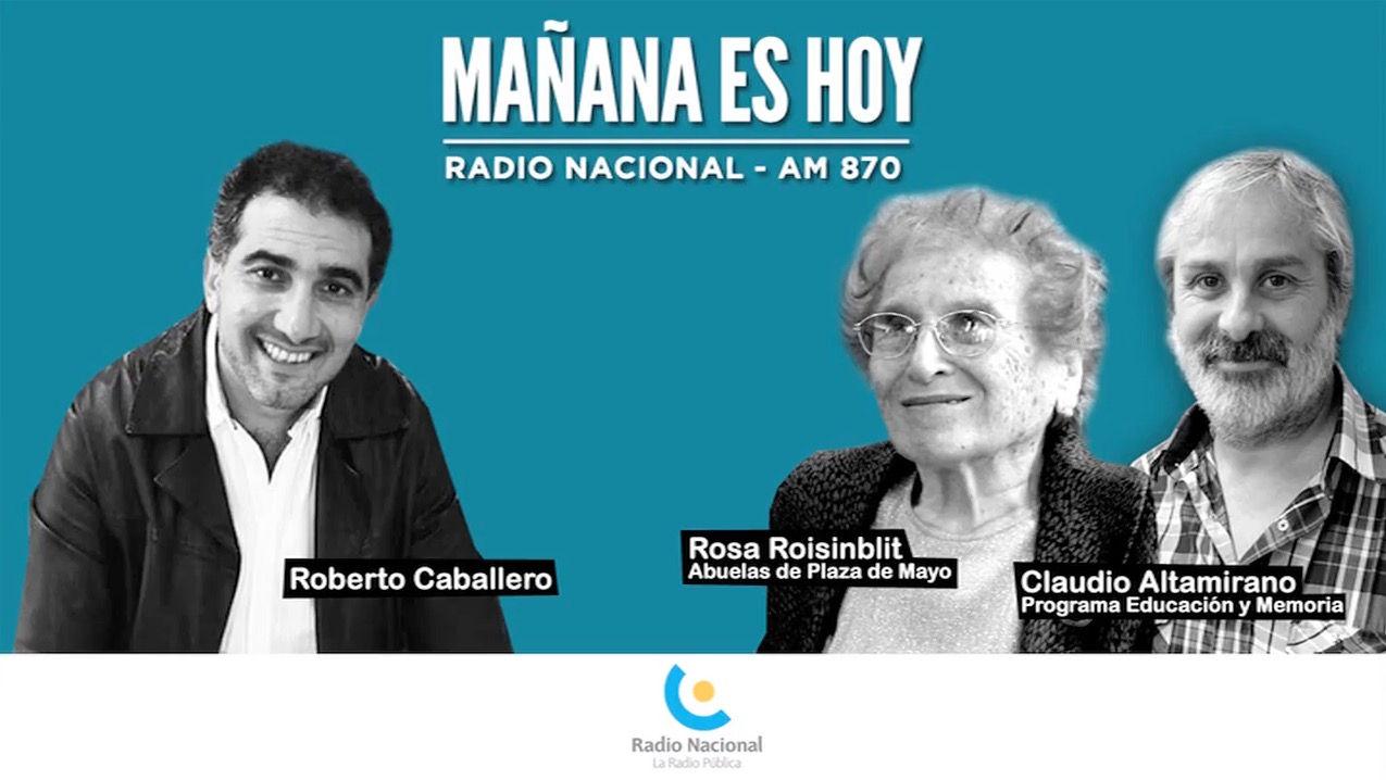 Rosa Roisinblit y Claudio Altamirano entrevistados por Roberto Caballero