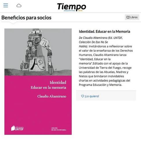 Tiempo Argentino - Beneficio