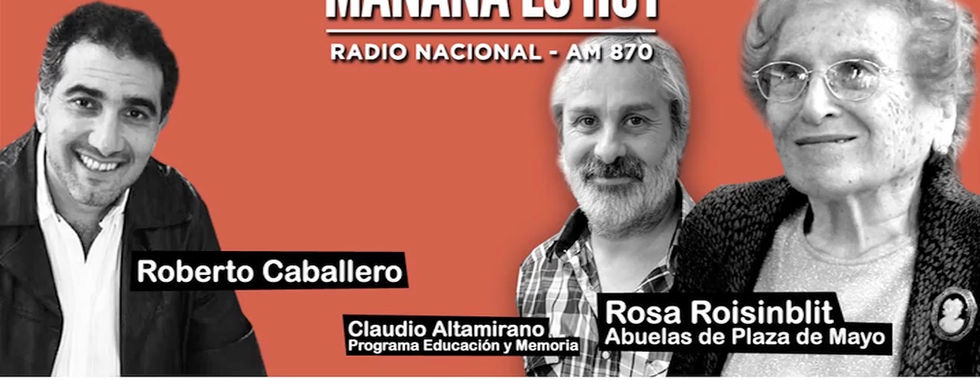 Roberto Caballero entrevista a Rosa Roisinblit en Radio Nacional