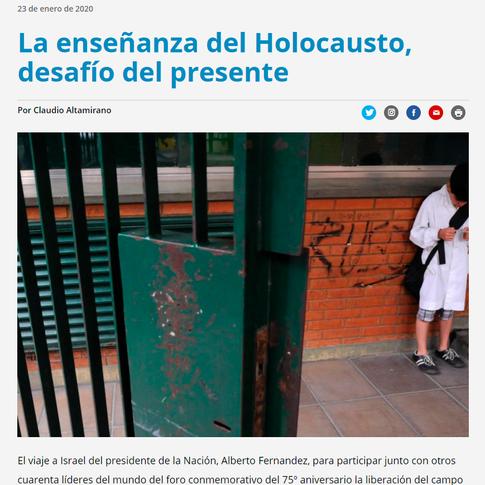 La enseñanza del Holocausto