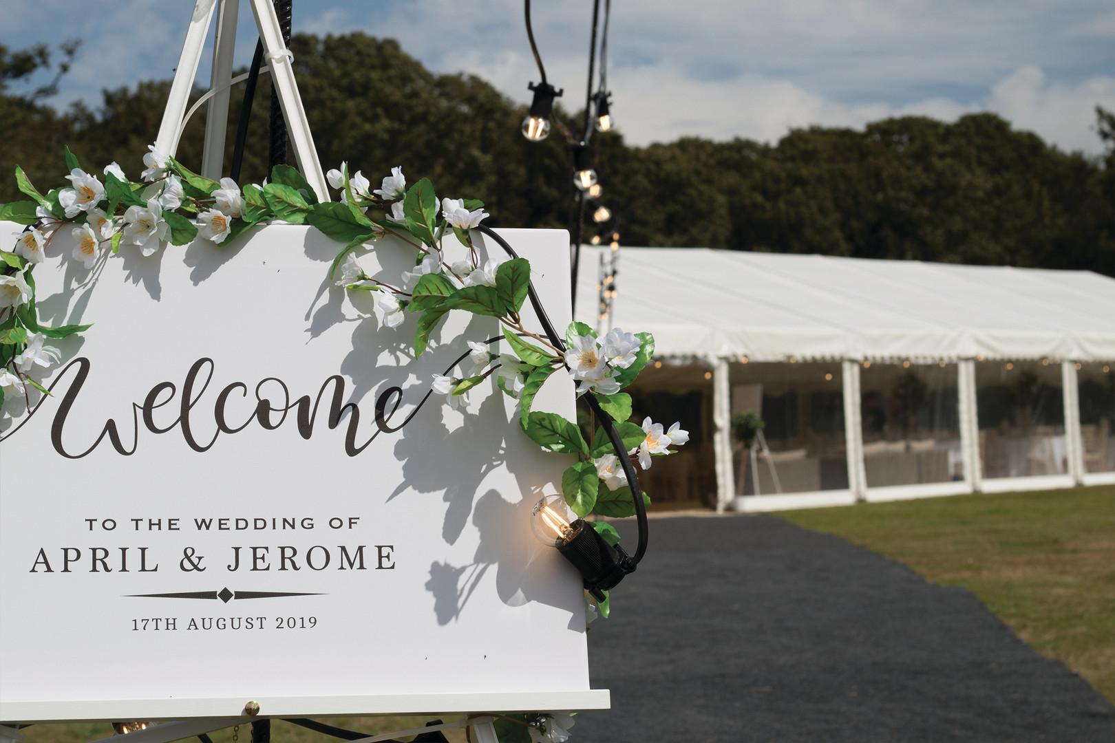 Marlin Marquees Wedding New House Redlyn